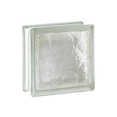Cortina 4 in. Thick Series 8 x 8 x 4 in. (8-Pack) Ice Pattern Glass Block (Actual 7.75 x 7.75 x 3.88 in.)