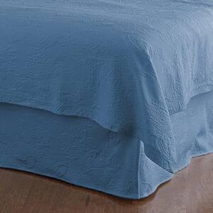 Putnam Matelasse 14 in. Denim Cotton King Bed Skirt