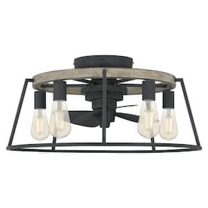 Brockton 24 in. Grey Ash Ceiling Fan with Light