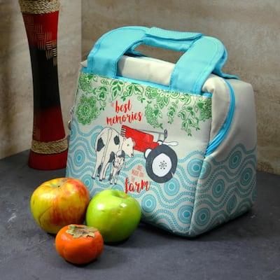 10.25 in. Life on the Farm Decorative Farm Design Lunch Bag