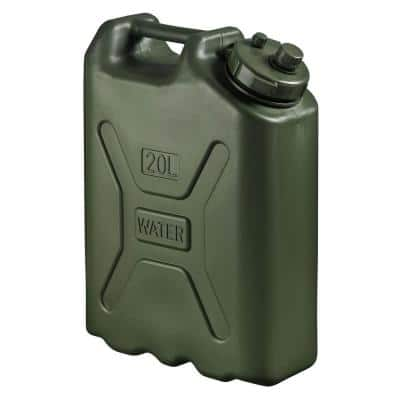 BPA Durable 5 Gal. 20 l Portable Water Storage Container, Green