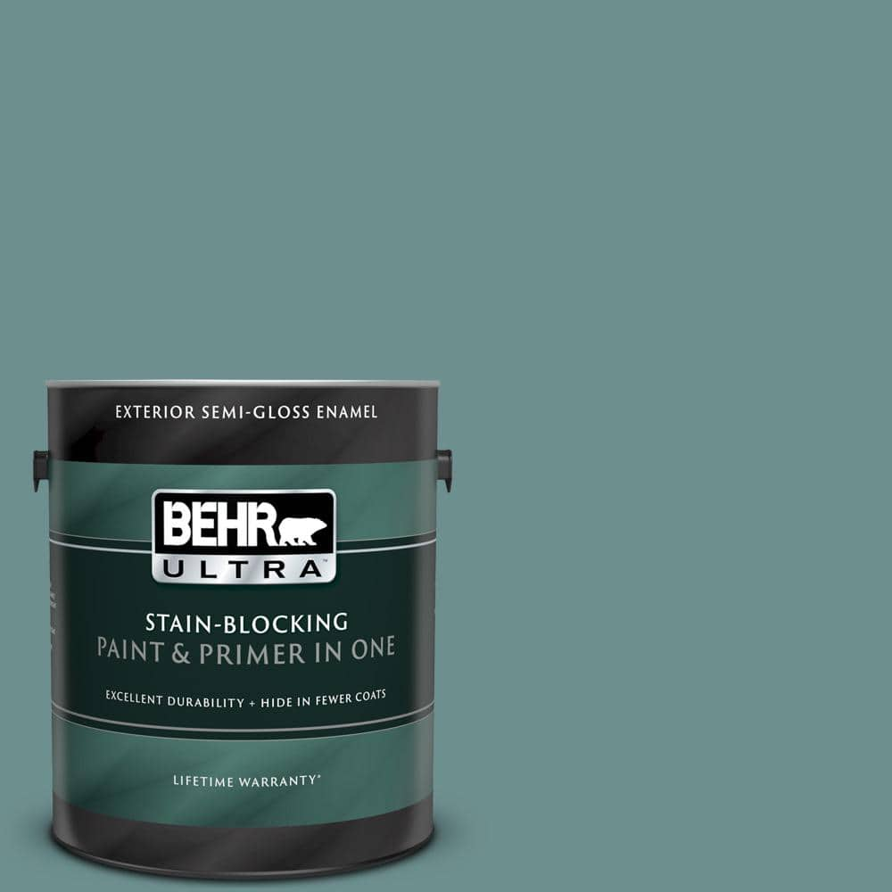 Behr Ultra 1 Gal Ppu12 03 Dragonfly Semi Gloss Enamel Exterior Paint And Primer In One 585401 The Home Depot