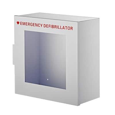 Non-Alarmed Steel Cabinet for Defibrillators in White