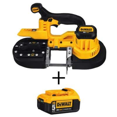 20-Volt MAX Cordless Band Saw with (1) 20-Volt Battery 5.0Ah