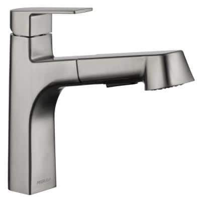 Xander Single-Handle Pull-Out Sprayer Kitchen Faucet in Stainless