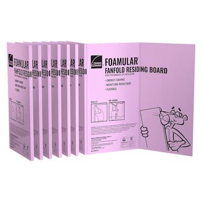 FOAMULAR 1/4 in. x 4 ft. x 50 ft. R-1 Fanfold Rigid Foam Board Insulation Sheathing