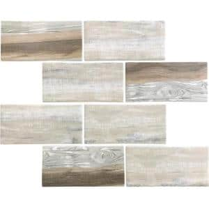 Beige White 11.5 in. x 11.5 in. Matte Finished Subway Recycled Glass Mosaic Tile (9.18 sq. ft./Case)