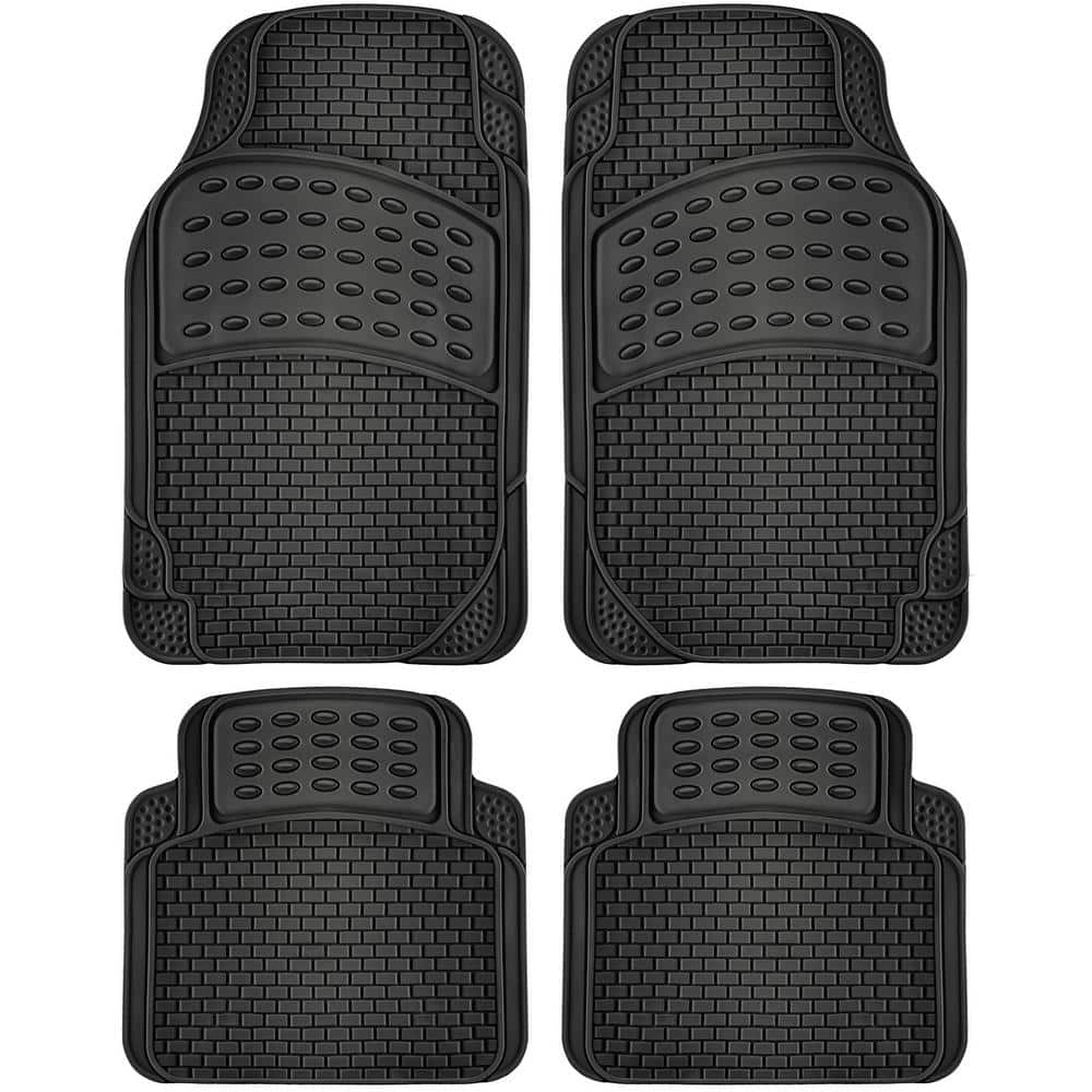 OxGord Universal-Fit 3-Piece Rubber Floor Mats
