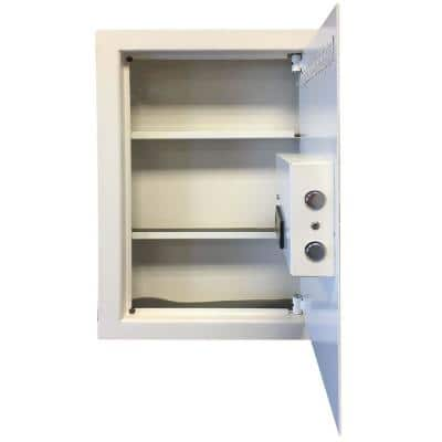 0.58 cu. ft. Wall Safe with Electronic Lock, Beige
