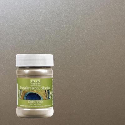 6 oz. Nickel Water-Based Satin Metallic Interior Paint