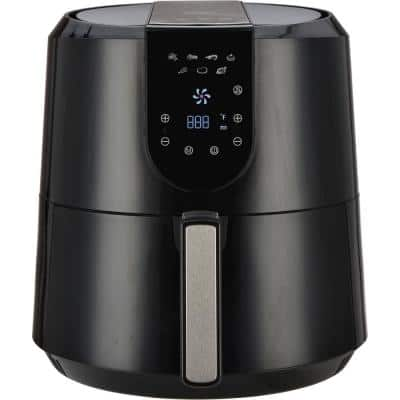 Air Fryer 5.2 l Capacity with Digital LED Touch Display and Slide Out Pan/Detachable Basket 1800-Watts (1807)
