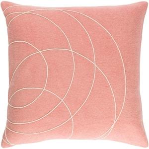 Bempton Purple Geometric Polyester 20 in. x 20 in. Throw Pillow