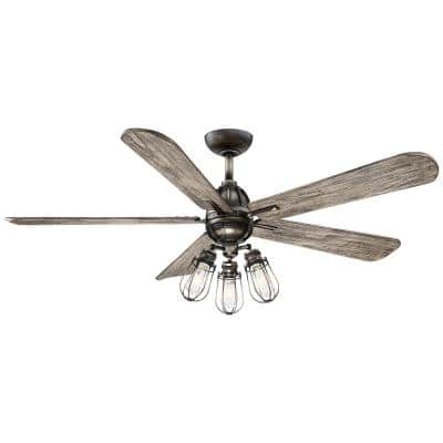 Alva 56 in. Integrated LED Indoor Heirloom Bronze Ceiling Fan with Light with Remote Control