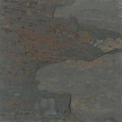 Slate Rustic Gold Calibrated/Gauged 11.89 in. x 11.89 in. Slate Floor and Wall Tile (1.0 sq. ft.)