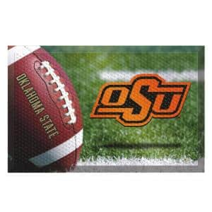 Oklahoma State University Football Heavy Duty Rubber Outdoor Scraprer Door Mat