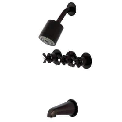 Millennium 3-Handle 2- -Spray Tub and Shower Faucet in Oil Rubbed Bronze (Valve Included)