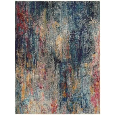 Celestial Multicolor 8 ft. x 11 ft. Abstract Bohemian Area Rug