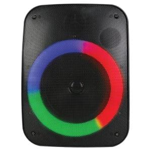 Sound Pro 6.5 in. 1,500-Watt Portable Bluetooth Speaker and Circular Disco Lights