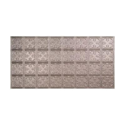 Traditional #10 2 ft. x 4 ft. Glue Up Vinyl Ceiling Tile in Galvanized Steel (40 sq. ft.)