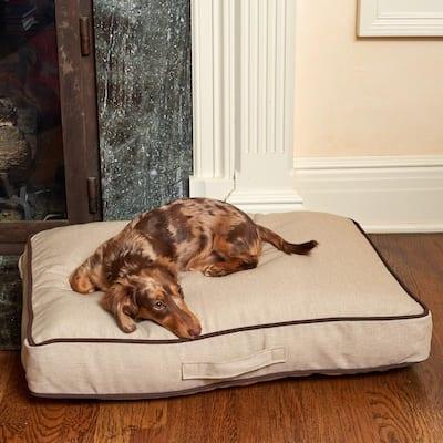 Sadie Small Beige Olefin Pet Bed