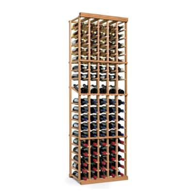 N'Finity 90-Bottle Natural Floor Wine Rack