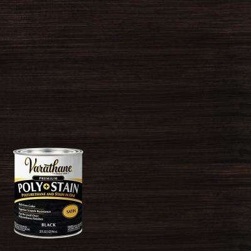 1 Qt. Black 450 Satin Oil-Based Interior Stain and Polyurethane (2-Pack)