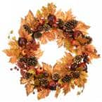 26 in. Harvest Maple Leaves Wreath