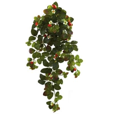 Strawberry Artificial Plants Artificial Greenery The Home Depot