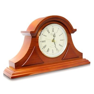 Mahogany Cherry Mantel Clock with Chimes