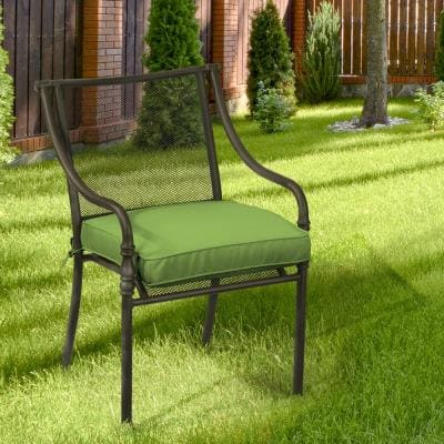 Oak Cliff 20 x 20 Sunbrella Canvas Gingko Outdoor Chair Cushion (2-Pack)