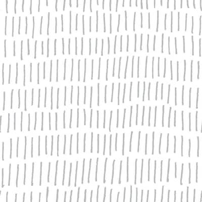 Tick Mark Grey Vinyl Peel & Stick Repositionable Wallpaper Roll (Covers 28.18 Sq. Ft.)
