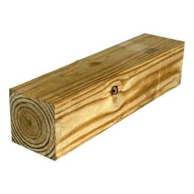 6 in. x 6 in. x 10 ft. Pressure-Treated Pine Lumber