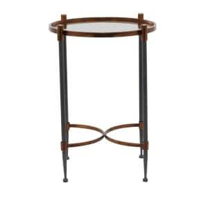 25 in. Black Iron Traditional Accent Table