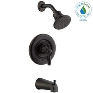 Mandouri Single-Handle 1-Spray Tub and Shower Faucet in Bronze (Valve Included)