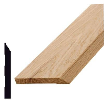 WM 620 1/2 in. x 4-1/4 in. x 96 in. Oak Base Moulding