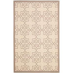 Courtyard Beige/Dark Beige 7 ft. x 10 ft. Indoor/Outdoor Area Rug