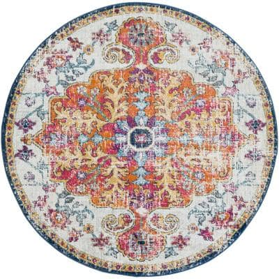 Demeter Ivory 5 ft. 3 in. Round Area Rug