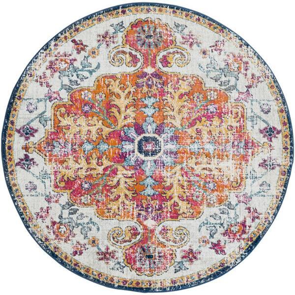 Artistic Weavers Demeter Ivory 7 Ft 10, 10 Foot Round Rug