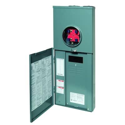 QO 200 Amp 8-Space 16-Circuit Outdoor Ringless Overhead/Underground Main Breaker CSED