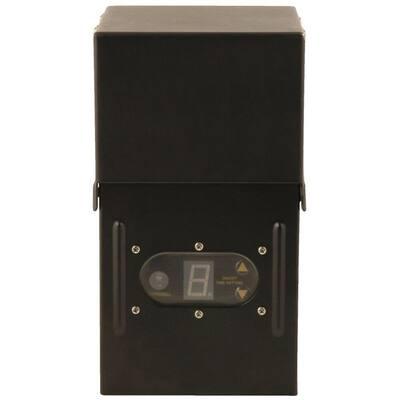 Power Pack Low-Voltage 200-Watt Black Outdoor Lighting Transformer with Photocell Light-Sensor and Metal Raintight Case