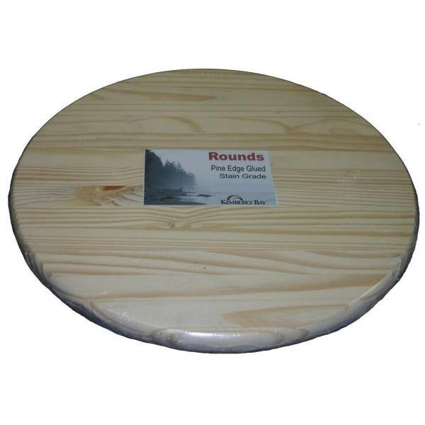 3 Ft Pine Edge Glued Panel Round Board, Round Table Tops Home Depot