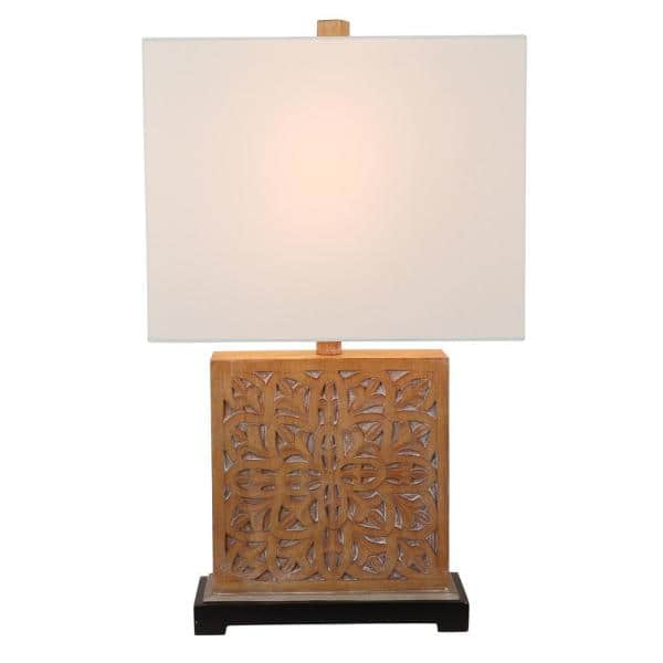 Decor Therapy 22 75 In Cullen Geo, Square Wood Table Lamp Base