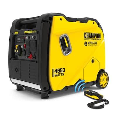 4650-Watt Remote Start Gasoline RV Ready Inverter Gas Powered Generator with Quiet Technology