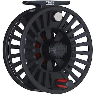Crosswater 4/5/6 Spool Heavy-Duty Polymer Fly Fishing Reel, Black