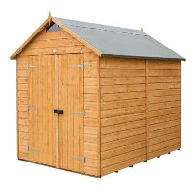 6 ft. W x 8 ft. D Wood Secure Storage Shed