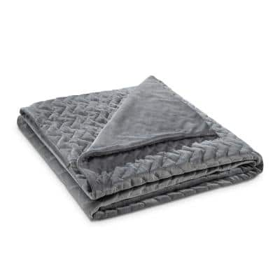 Fabumi Grey Weighted Blanket 12 lbs. 48 in. x 72 in.