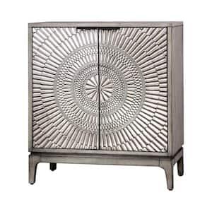 Raffiq Antique Gray Nightstand
