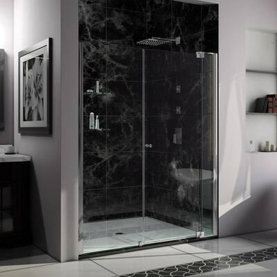 Allure 62 in. to 63 in. x 73 in. Semi-Frameless Pivot Shower Door in Chrome