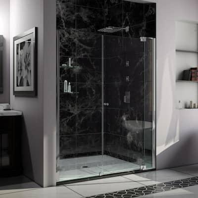 Allure 65 in. to 66 in. x 73 in. Semi-Frameless Pivot Shower Door in Chrome