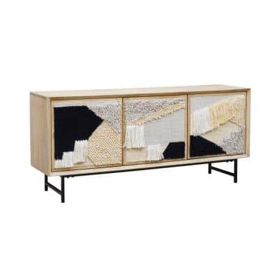 Tapestry Natural Finish Sideboard With Solid Wood